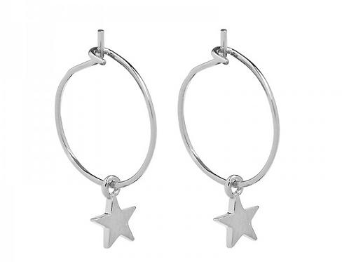 Star earring - Silver