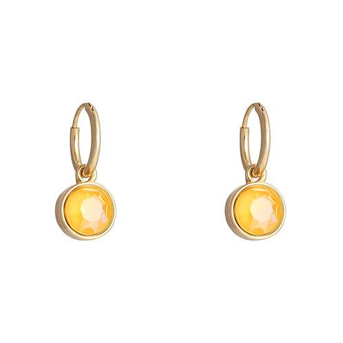 Vibe earring orange - goud