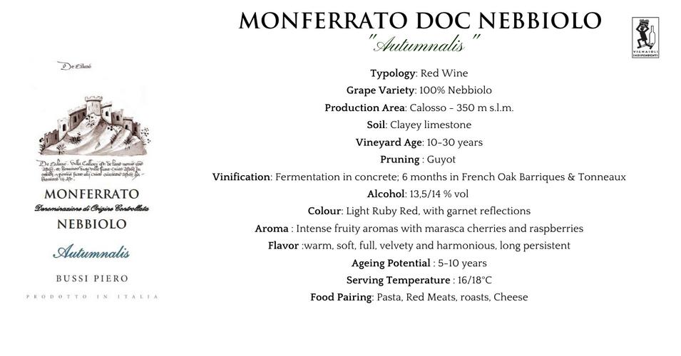 Scheda Tecnica Monferrato Nebbiolo _Autu