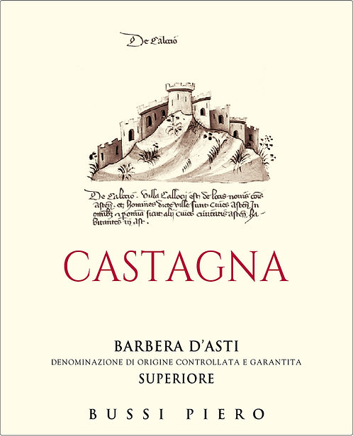 "Barbera D'Asti Superiore DOCG ""CASTAGNA"" 2016"