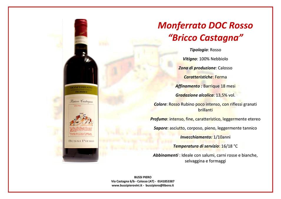 Monferrato DOC Rosso BRICCO CASTAGNA (ne