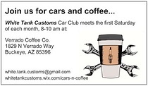 Old White Tank Customs & Classics Business Card - Yep, got the name wrong