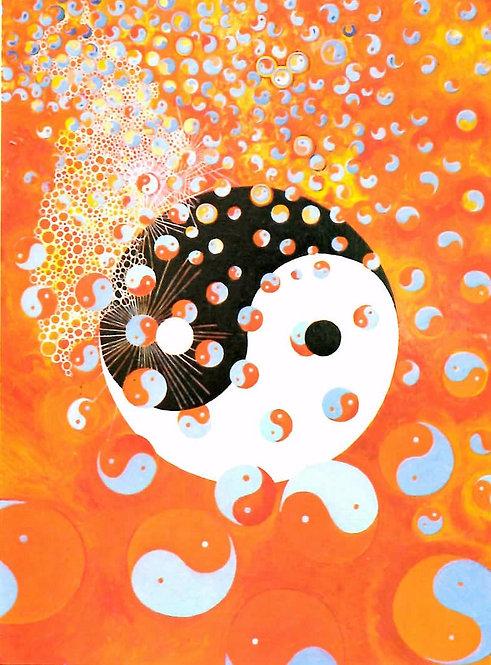 Yin Yang - Greetings Card - Pack of 10