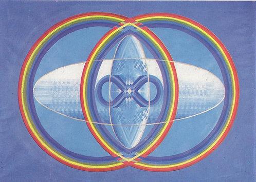 Rainbow Vesica - Greetings Card - Pack of 10