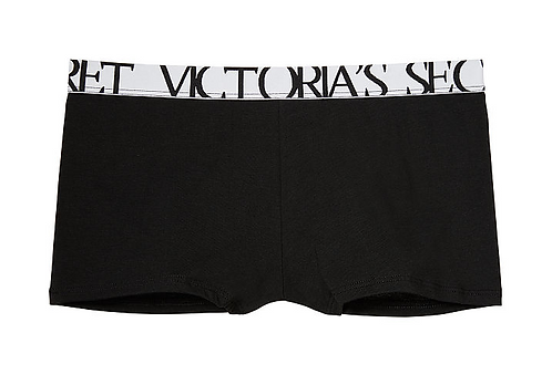 VICTORIA'S SECRET Bold Logo Boyshort Panty BLK
