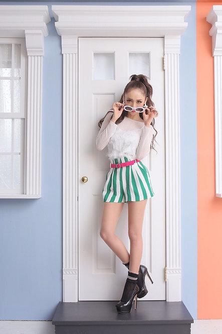S17-018 フリンジレースレイヤードシャツ