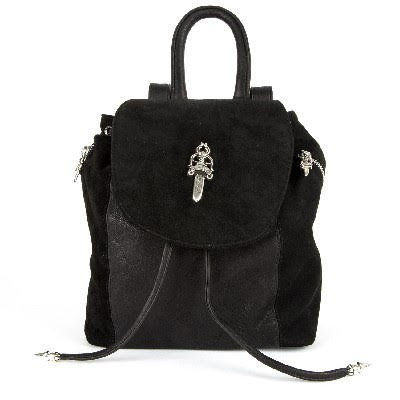 CHROME HEARTS SMALL IGGY FLAP TOP SUEDE BACKPACK DAGGER クロムハーツ スモール IGGY ダガー スウェ
