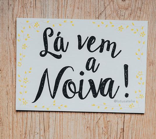 Placa de Madeira para Pajem e Daminha
