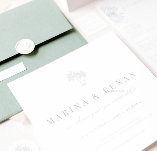 Convite de Casamento Maresia