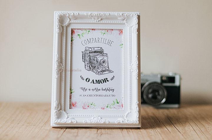 Print para porta retrato casamento