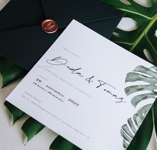 Convite de Casamento Mostera