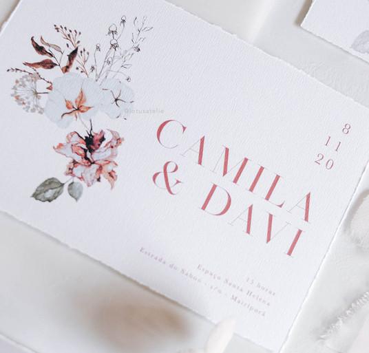 Convite de Casamento Poesia