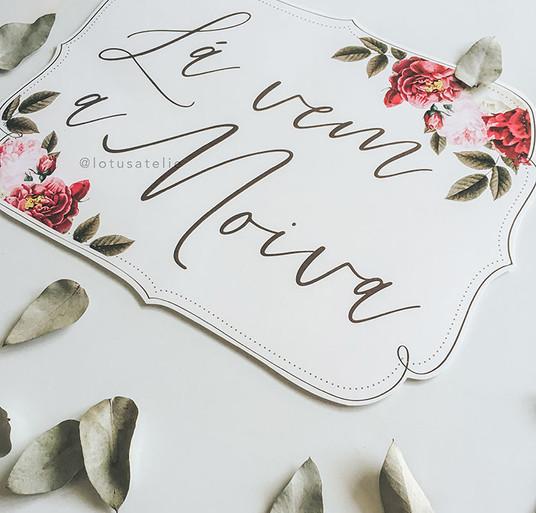 Plaquinha de papel para Pajem - Marsala