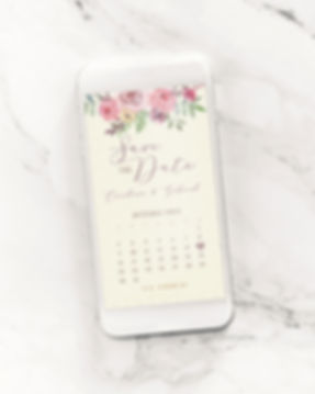 Save the Date para Casamento Digital Flores