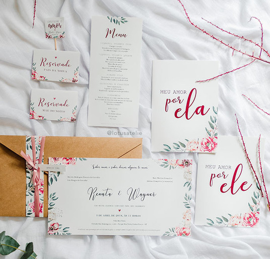 Convite de Casamento Renata e Wagner