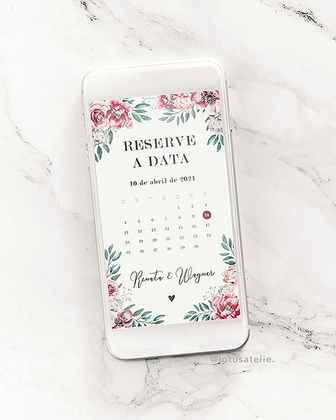 Save the date digital para casamento