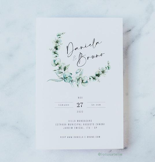 Convite de Casamento Eucalipto