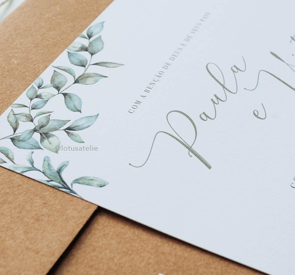 Convite de Casamento Amor Sincero
