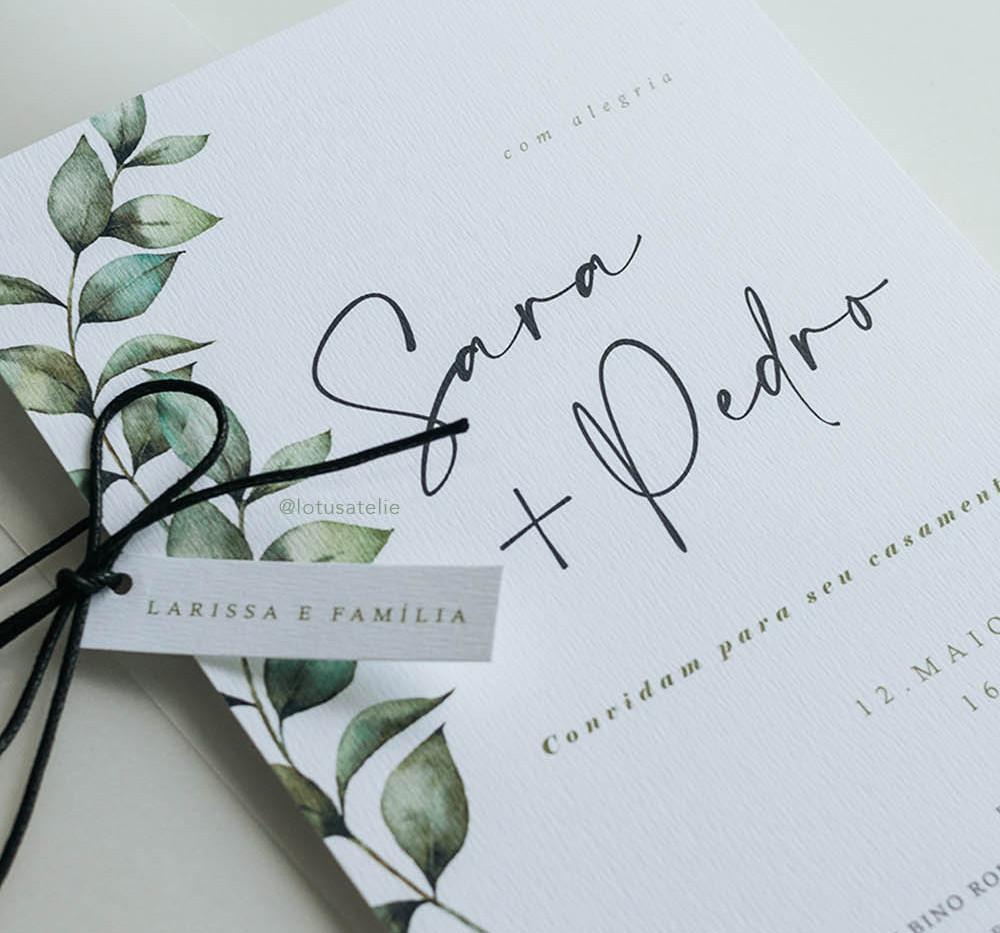 Convite de Casamento Floresta
