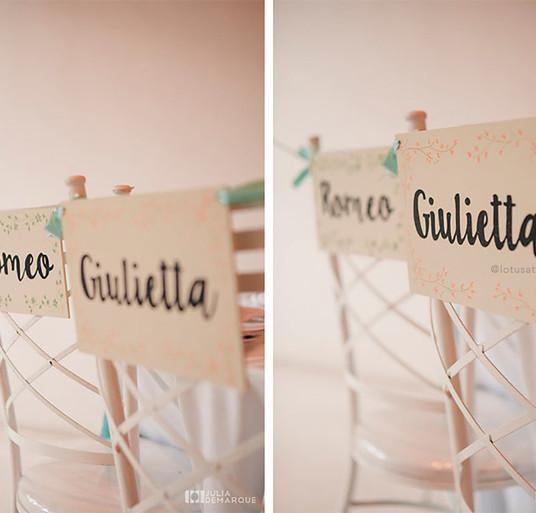 Placa de Madeira para Cadeiras dos Noivos