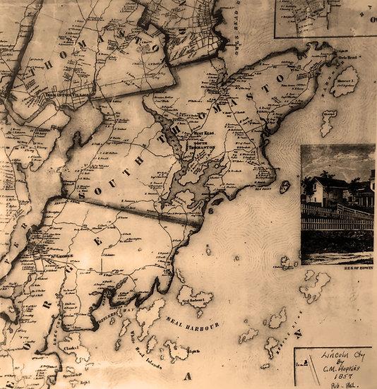 1857 Owls Head Map