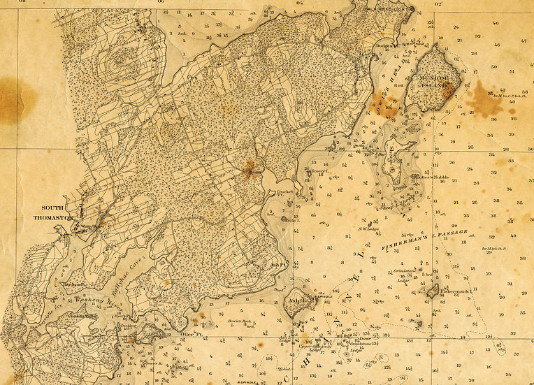 1873 Canvas Chart of Owls Head