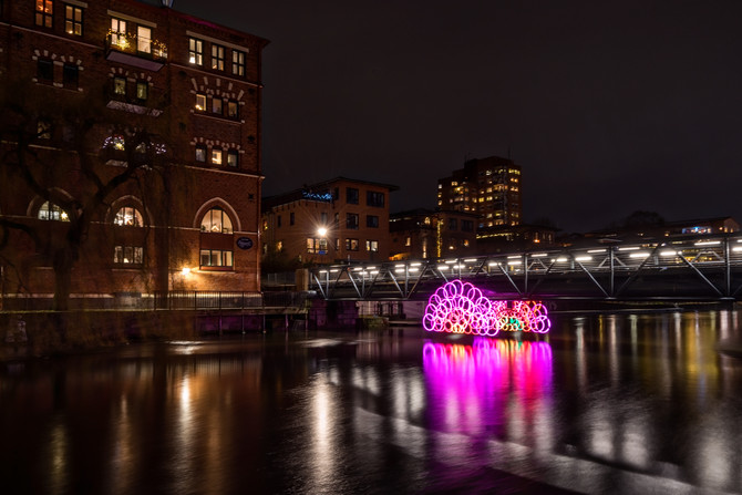 A phototrip to Norrköping at night