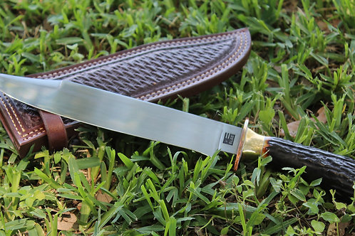 Stag handled camp knife