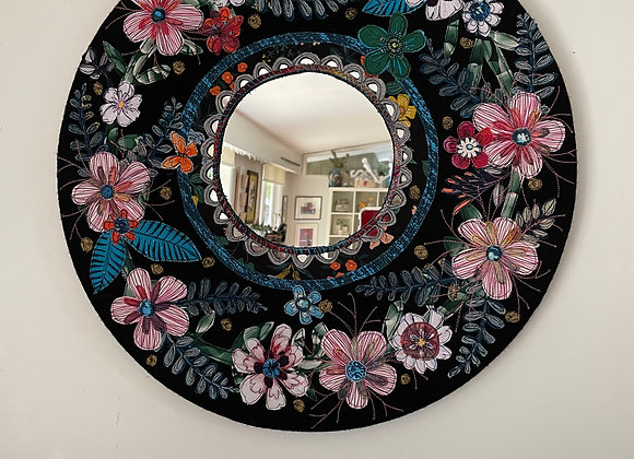 floral garland applique mirror