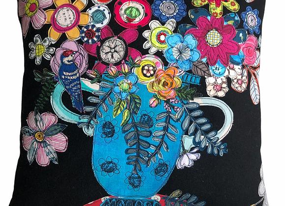 big vase with wee bird