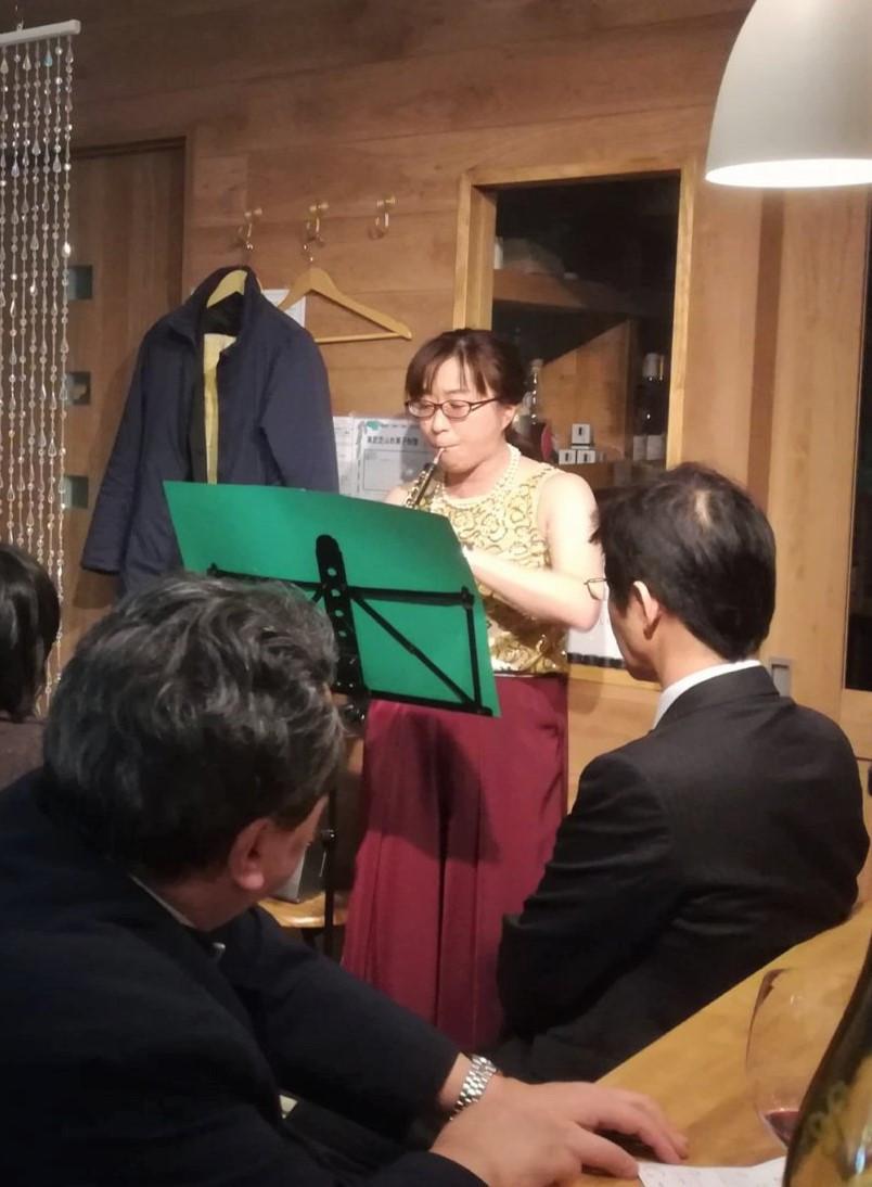 わいんびより初の音楽ともコラボ、オーボエ奏者かがわあさこさんの素敵な演奏を聴きながらワインを楽しむイベントを開催しました!かがわさん有難うございました!