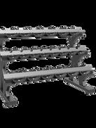 Dumbell Rack Triple 10 pair LUXURY
