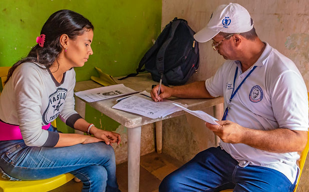 gestores comunitarios sensando en barrios de Cúcuta