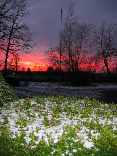Sonnenuntergang am 18.1.17