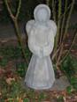 Engel aus Knetbeton hergestellt