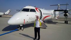 Delivered new Q400 at Abu Dhabi