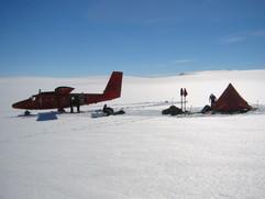 Twin Otter at Coal Nunatak, Antarctica