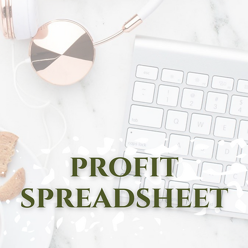 Annual and Monthly Profit Spreadsheet