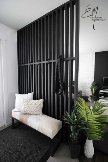 Mur intimité hall