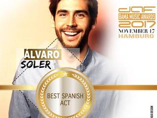 Alvaro has won the Daf BAMA Music Award 2017 for Best Spanish Artist. Congratulations, Alvaro!
