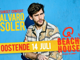 Alvaro will give a free sunset concert at QMusic Beach House in Ostend on Sunday July 14! Don't