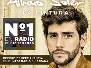 Alvaro has broken a new record: 10 weeks number one on the Spanish radio with La Cintura!