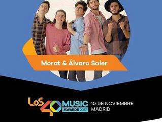Alvaro is performing at the Premios 40 Principales on November 10 in Madrid!