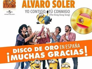 Alvaro's single Yo Contigo Tu Conmigo is Gold in Spain and Italy! Congratulations, Alvaro!