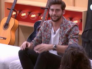 Alvaro meets the contestants of the Spanish talent show Operación Triunfo in Barcelona (Wednesday 17