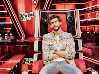 Alvaro will be judge on The Voice Kids! Here are some photos of his first day of recording