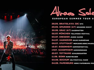 Alvaro announced his tour for next year! Don't wait to buy your tickets