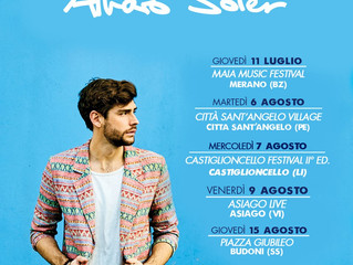This summer Alvaro will be back in Italy with his Mar de Colores Italian summer tour! Don't wait