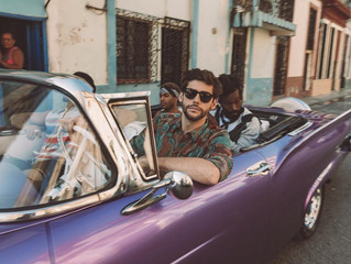 Alvaro was in Havana earlier this month filming the music video for his new single La Cintura. Here
