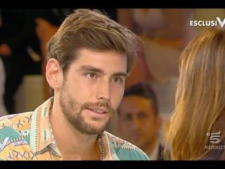 Alvaro guest appearance on Verissimo TV (Milan, 21/09/2017)